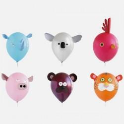 Boutique-Originale : 6 ballons animaux - à décorer soi-même