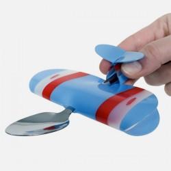 Boutique-Originale : Cuillère avion bleu