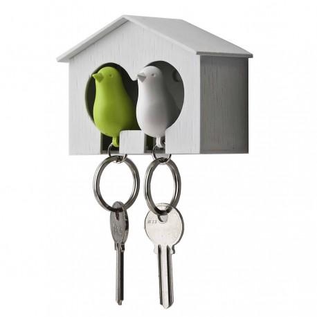 Boutique-Originale : Porte-clés - Duo d'oiseaux