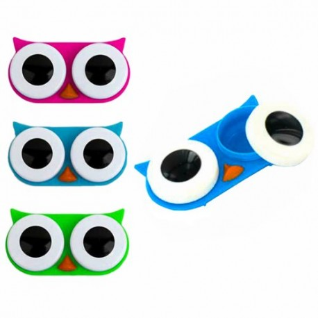 Super Etui a lentilles de contact Hibou - objet original - cadeau  XW07
