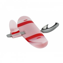 Boutique-Originale : Cuillère avion rose