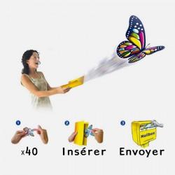 Papillon magique pour carte postale