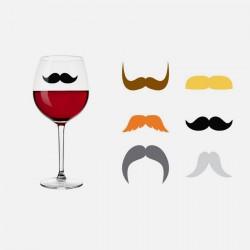 Marque verre moustache