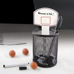 Papeterie crayon gadget humoristique gadget fun gadget insolite boutique originale - Panier de basket de bureau ...
