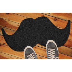 Boutique-Originale : Paillasson moustache noir