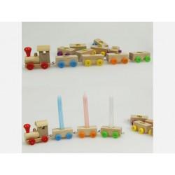 Boutique-Originale : Petit train d'anniversaire et ses bougies