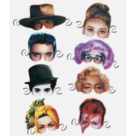 Boutique-Originale : Masque en papier Célébrités