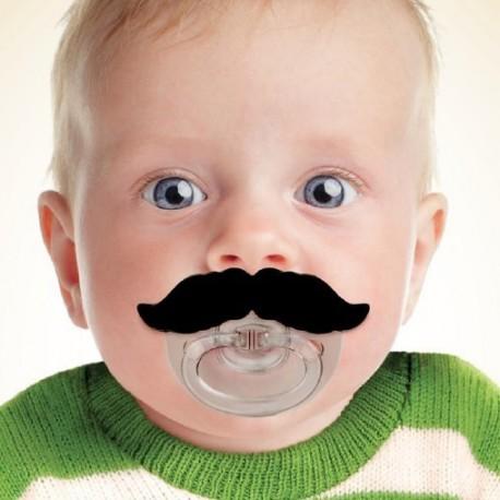 Boutique-Originale : Tétine moustache