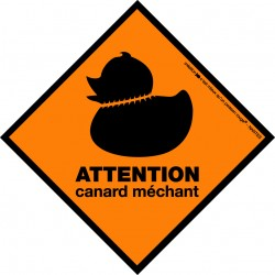 Boutique-Originale : Sticker - Canard méchant