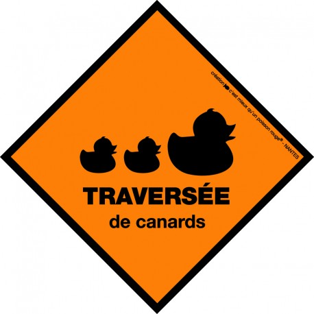 Boutique-Originale : Sticker - Traversée de canards