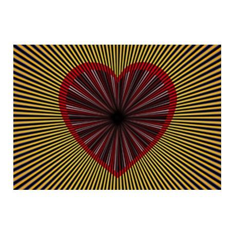 Boutique-Originale : Carte postale - Tournante coeur