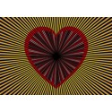 Carte postale tournante - Coeur