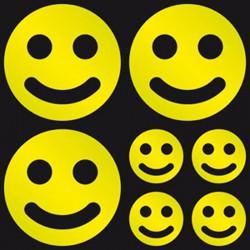 Boutique-Originale : Autocollant réfléchissant - Smiley