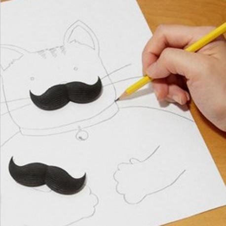 Gommes moustache (x2)