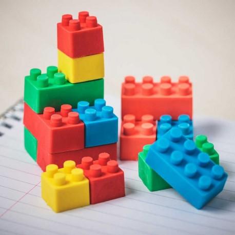 Gommes cubes de construction