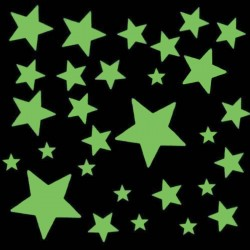 Étoiles phosphorescentes autocollantes