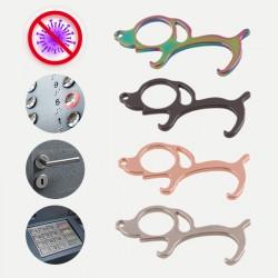 Porte-clés chien anti-microbes / décapsuleur