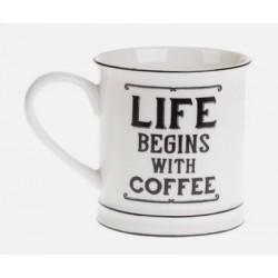 Boutique-Originale : Mug - La vie commence avec un café