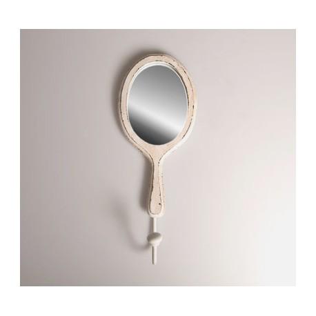 Boutique-Originale : Miroir crochet blanc