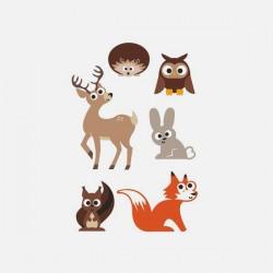 Boutique-Originale : Magnet - Animaux de la forêt